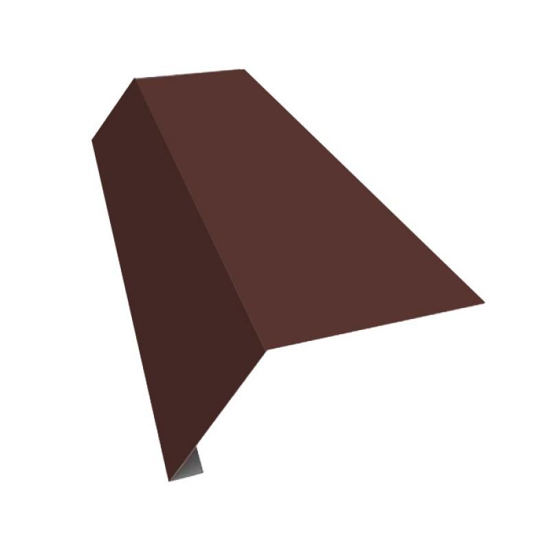 Планка карнизная Шинглас коричневый (2000х50х10мм) Polyester