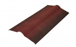 Коньковый элемент д/ондулина красный L-1,00м (15)