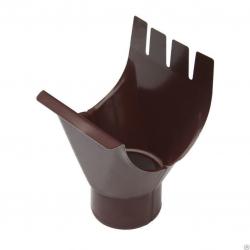 Воронка желоба выпускная д-90/250мм шоколад