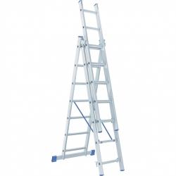 Лестница алюмин. 3х7ступ. трехсекц. Сибртех (Россия)