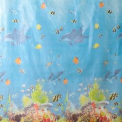 Штора для ванны 180х180 PEVA Рыбы