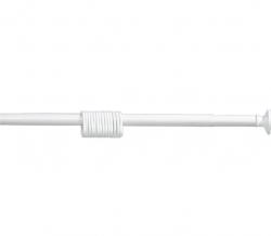 Карниз д/ванной 12 крюч. 120-210см белый 211006