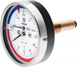 Термометр/маном 1/2 (осев.) гориз. 6бар Т=0-150  Ду80