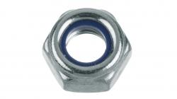 Гайка М10 оц. DIN 985 шестиг. со стопорным кольцом