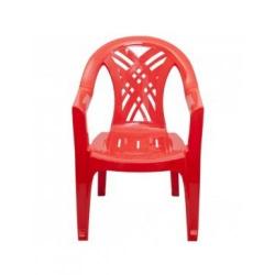 Кресло пласт. красное (660*600*840мм)