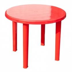 Стол пласт. 910х710 круглый  Красный