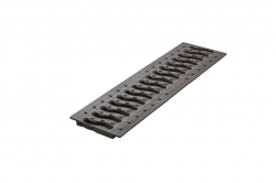 Решетка 100 пластиковая Волна (черный)