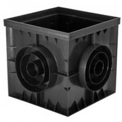 Дождеприемник пластиковый 300х300 без решетки (черный)
