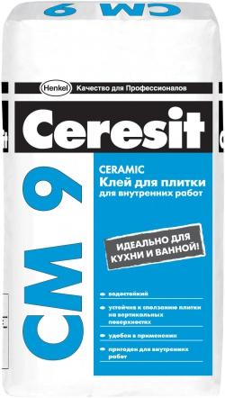Клей плиточный СМ 9 Керамик 25кг CERESIT (48)