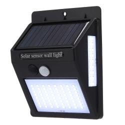 Светильник настенный на солнечных батареях с датчиком движ. 20 LED, черный