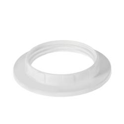 Кольцо абажурное д/патрона Е27 пластик белый