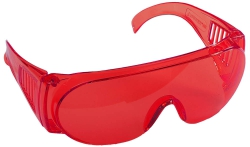 Очки защитные Stayer ''Standart'' красные поликарб.монолинза с бок. вентил.