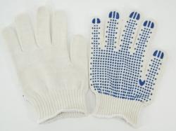 Перчатки х/б с ПВХ 4 нит. 10класс белые