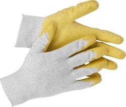 """Перчатки """"STAYER MASTER"""" трикотаж.,х/б. 2-й обливн.ладонь из латекса, 13 класс,   L-XL"""