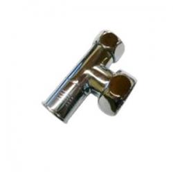 Вентиль запорный угловой г/г 1х3/4 хром для п/с ( ZZ-4707)