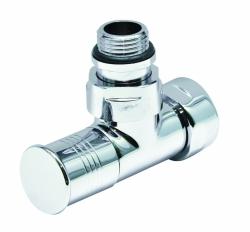 Вентиль запорный угловой г/ш 3/4х1/2 хром для п/с ( ZХ-8202SCH0504)