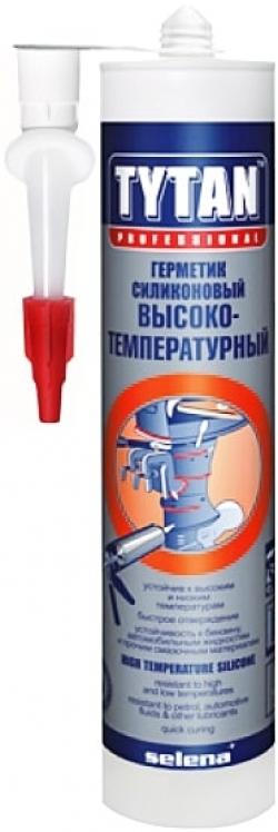 Герметик силик. высокотемпер.Tytan Professional (красный) 310мл.