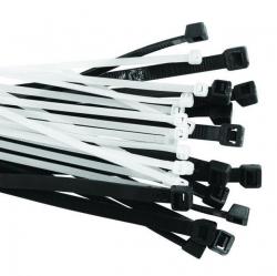 Хомут нейлон. 3,6х250мм черные (100)