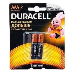Батарейка Duracell LR03-2BL BASIC CN (24/96/14592)