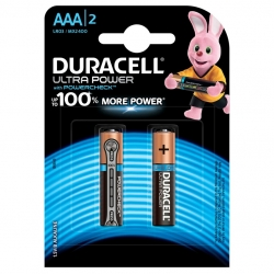 Батарейка Duracell LR03-2BL Ultra Power (2/20/16500)