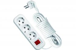 Удлинитель 3-м  3м с/з с выключ. ПВС 3х1 16А/3.5кВт Эксперт