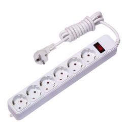 Фильтр сетевой 6х1,8м 10А/2,2кВт с выключ. с/з ПВС 3х0,75 Блокбастер PROxima