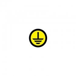 Знак безопасности Земля (круглый) d=20мм