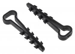 Дюбель-хомут полипр. 6х12 черный (50шт.) Simple