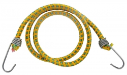 Резинка багажная с крючками  6мм х 110см (натур. каучук) 1шт