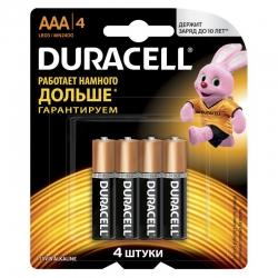 Батарейка Duracell LR03-4BL BASIC CN ААА мизинчик блистер (4шт)