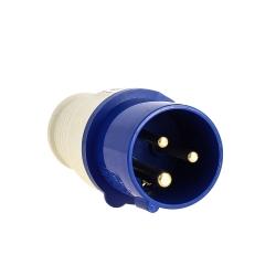 Вилка кабельная 16А 2Р+Е IP44 переносная 220В