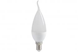 Лампа светодиодная Е14  5Вт LED свеча на ветру белый мат. ECO iEK