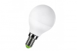 Лампа светодиодная Е14  5Вт LED шар тепло-белый мат. ECO iEK