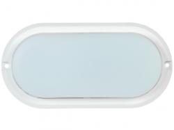 Светильник светодиод. ДБП- 8w 4000К 530Лм IP54 овальный пласт. белый