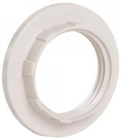 Кольцо абажурное д/патрона Е14 пластик белый