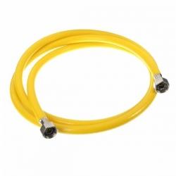 Шланг д/газовых приборов из ПВХ (желтый) 1/2х1,0м в/в,МР-У