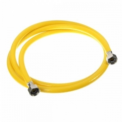 Шланг д/газовых приборов из ПВХ (желтый) 1/2х1,5м в/в,МР-У