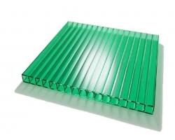 Сотовый поликарбонат СПК 2,1х  6,0мх 8,0мм Зеленый (Россия)