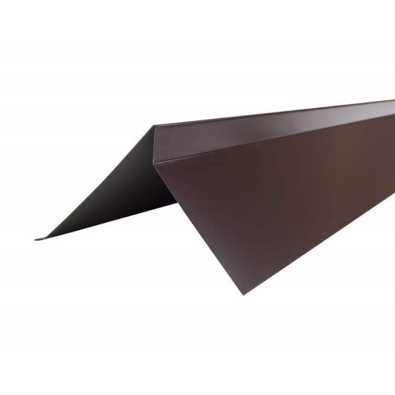 Планка торцевая Шинглас коричневый (2000х100мм) Polyester