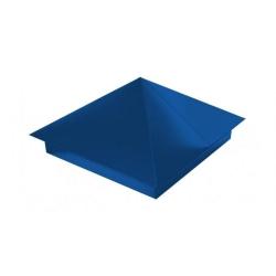 Колпак заборный с юбкой 400х400 синий