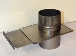 Шибер-задвижка (ст.0,5мм) д. 110мм