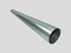Труба оцинк. (ст. 0,5мм) дл. 1м  д.120мм