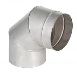Колено оцинк.  д.110мм х 90 (0,5мм) 3-ех секцион.