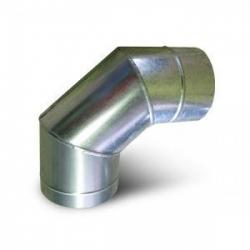 Колено оцинк.  д.120мм х 90 (0,5мм) 3-ех секцион.