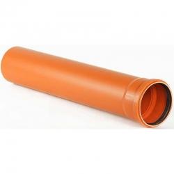 Труба пласт. d-160х4,9мм L-0,50м наруж.