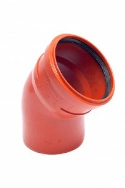 Отвод пласт. 160х45х3,2 (нар.)