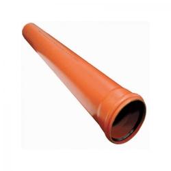 Труба пласт. d-110х3,4мм L-3,00м наруж.