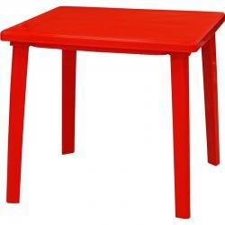 Стол пласт. 800х800х710  Красный