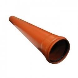 Труба пласт. d-110х3,4мм L-1,00м наруж.
