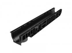 Лоток 100.1255 h129 пластиковый (черный) Ecotek-Стандарт